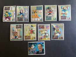SAN MARINO 1970 IN MEMORIA DI WALT DISNEY MNH - Unused Stamps