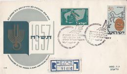 INAUGURATION OF THE FREDRIC A. NANN AUDITORIUM, TEL AVIV. ISRAEL FDC ANNEE 1957, ENVELOPPE RECOMMANDE -LILHU - FDC