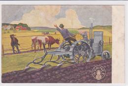 AVANCE, Carte-réclame, Laboureur Avec Tracteur Et Laboureurs Avec Boeufs - Trattori