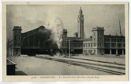 CHERBOURG - LA NOUVELLE GARE MARITIME - FAÇADE SUD - TRAIN VAPEUR - Cherbourg