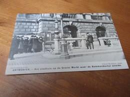 Antwerpen , Het Stadhuis Op De Markt Waar De Kommandantur Zetelde - Antwerpen