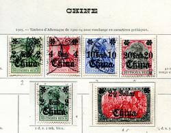 Allemagne - Chine * , Ob  N° 30 à 33 - 40 - 48 - Deutsche Post In China