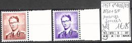 [845282]TB//**/Mnh-Belgique 1957 - N° 1028/29, 2f50+5f Nuances Foncées, Bdf, Familles Royales, Rois - Unused Stamps