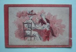 CHROMO  CHICOREE A LA BELLE JARDINIERE - A TABLE ! - DEJEUNER - Tè & Caffè