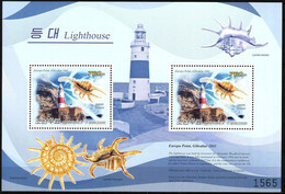 {K031} Korea 2009 Lighthouses Shells VI S/S Of 2 MNH - Korea (Nord-)