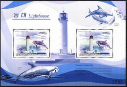 {K018} Korea 2009 Lighthouses Dolphins III S/S Of 2 MNH - Korea (Nord-)