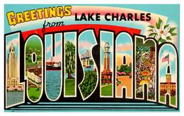 Louisiana Lake Charles LARGE LETTER - Other