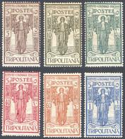 """1926 TRIPOLITANIA """"PRO ISTITUTO COLONIALE"""" N 33/38 NUOVI*/** INTEGRI E CON TRACCIA LEGGERA DI LINGUELLA - MNH/MLH FINE - Tripolitania"""