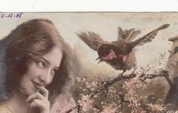 CPA  FEMME Artiste SURREALISME   Oiseau   NPG  Oranotypie - Women