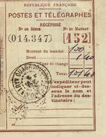Postes Et Télégraphes Récépissé Cachet Ouagadougou Haute-Volta 04/05/1939 - Oblitérés