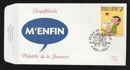 "FDC - Gaston Lagaffe (""M'Enfin!"") - B.D. -  Timbre N° 2484  - Tampon Liège - 1991-00"