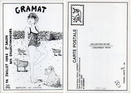 GRAMAT - 2° Salon Des Collectinneurs (1985) Illustration De Gilles Hermet - Tir. Numéroté Et Limité 7/150 (120072) - Gramat