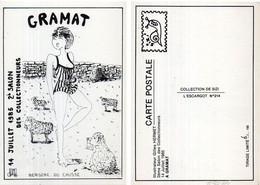 GRAMAT - 2° Salon Des Collectinneurs (1985) Illustration De Gilles Hermet - Tir. Numéroté Et Limité 6/150 (120073) - Gramat