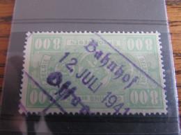 Belgique : Chemin De Fer: Cachet BAHNHOF OFFAGNE En 1941! - 1923-1941