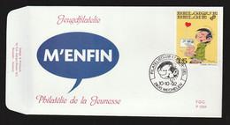 "FDC - Gaston Lagaffe (""M'Enfin!"") - B.D. -  Timbre N° 2484  - Tampon Mechelen - 1991-00"
