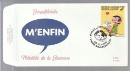 """FDC - Gaston Lagaffe (""""M'Enfin!"""") - B.D. -  Timbre N° 2484  - Tampon Marbais - 1991-00"""