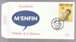 "FDC - Gaston Lagaffe (""M'Enfin!"") - B.D. -  Timbre N° 2484  - Tampon Gent - 1991-00"