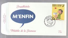 """FDC - Gaston Lagaffe (""""M'Enfin!"""") - B.D. -  Timbre N° 2484  - Tampon Bruxelles - 1991-00"""