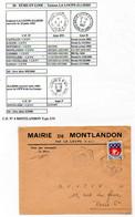 Poste Automobile Rurale De L'Eure Et Loir Circuit De La Loupe Illiers CP N°4 Montlandon Type 2/31 Sur N° 1354B Y. Et T. - Handstempel