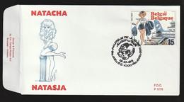 FDC - Natacha / Natasja - B.D. -  Timbre N° 2528 - Tampon Bruxelles - 1991-00