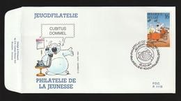 FDC - Cubitus / Dommel - B.D. -  Timbre N° 2578 - Tampon Bruxelles - 1991-00