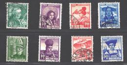 Lot Schweiz Juventute 1938+1939 Gestempelt - Oblitérés