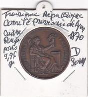 TROISIEME REPUBLIQUE COMITE PROVISOIRE DE LYON 1870 - Royal / Of Nobility
