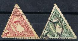 Sello Periodicos, Journaux  AUSTRIA 1916, Triangular Stamps, Yvert Num 25-26 º - Periódicos