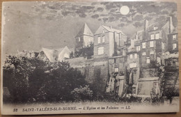 Carte Postale Saint Valery Sur Somme L'église Et Les Falaises - Saint Valery Sur Somme