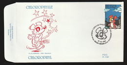 FDC - Chlorophylle - B.D. -  Timbre N° 2663 - Tampon Gembloux - 1991-00