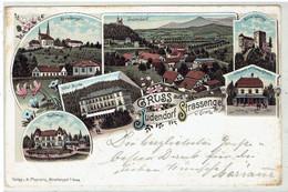 Gruss Aus Judendorf Straßengel B/ Graz - Hotel Styria - Kurhaus - Litho Karte Sendet 1897 - Graz