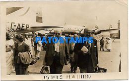 148156 SPAIN ESPAÑA MADRID AVIATION AIRPORT AEROPUERTO PHOTO NO POSTAL POSTCARD - Zonder Classificatie