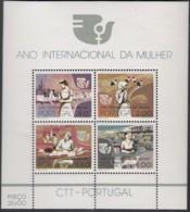 PORTUGAL, Block 16, Postfrisch **, Internationales Jahr Der Frau 1975 - Blokken & Velletjes