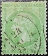 N°20. Napoléon 5c Vert. Oblitéré. Vendu En L'état. Voir Scan.... - 1862 Napoléon III