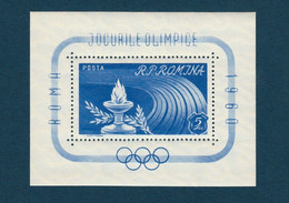 ROMANIA 495, 1960, Olympic Games - Rome, Italy, BLOCK PERF, Jeux Olympiques - Rome, Italie - Sin Clasificación