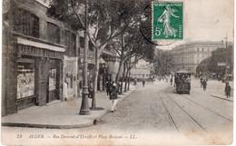 CPA  ALGER - RUE DUMONT D'URVILLE ET PLACE BRESSON - Algiers