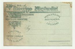 MONTELUPO FIORENTINO - AMERIGO MOSTARDINI NEGOZIANTE, MESTICHERIA 1912  FP ( FORELLINO SOPRA LA LETTERA P DI SAPONI ) - Firenze (Florence)
