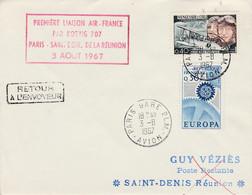 PREMIERE LIAISON PARIS-SAINT DENIS DE LA REUNION PAR AIR FRANCE 1967 - Aerei
