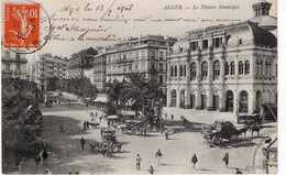 CPA  ALGER - LE THEATRE MUNICIPAL - Algiers