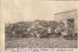 """Photo 1918 SAINT-NAZAIRE - Camp Américain N°7, Montage De Camions, """"Park Réception Moteur"""" (A225, Ww1, Wk 1) - Saint Nazaire"""