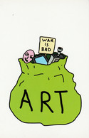 Postcard - Art - Playing To The Gallery - Good Statement - New - Non Classés