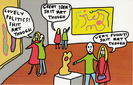 Postcard - Art - Playing To The Gallery - Art Critics At Their Best - New - Non Classés