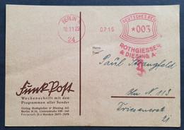 Deutsches Reich 1929, Private Postkarte Freistempel BERLIN - Brieven En Documenten