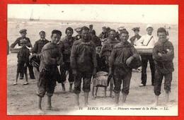 14- BERCK-PLAGE - Pêcheurs Revenant De La Pêche. - Berck
