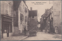 Quingey , Rue Des Salines , Reste De Papier Dos Voir Scan , Animée - Sonstige Gemeinden
