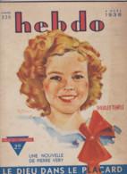 HEBDO N° 326  4 MARS 1938 - Ohne Zuordnung