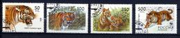 RUSSIE RUSSIA 1993, Yvert 6029/32, TIGRES DE L'OUSSOURI, 4 Valeurs, Oblitérés / Used. R323 - Felinos