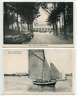LOT 2 CP * CHATELAILLON Le Casino ( Voitures Anciennes ) & En Mer Devant La Plage (bateau Voilier) - Châtelaillon-Plage