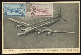 Premier Jour Des Avions De 1946. Sur Carte Max (en 50 Ans Je N'ai Jamais Vu De Vrais FDC) - ....-1951
