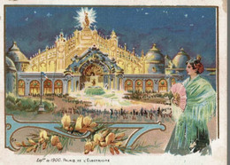 CHROMO NOUVELLE MACHINE A COUDRE SINGER  EXPOSITION DE 1900  PALAIS DE L'ELECTRICITE - Andere